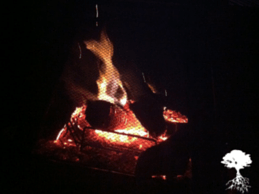 The sight, sound and smell of an outdoor fire. Bring on the marshmallows and the smores.